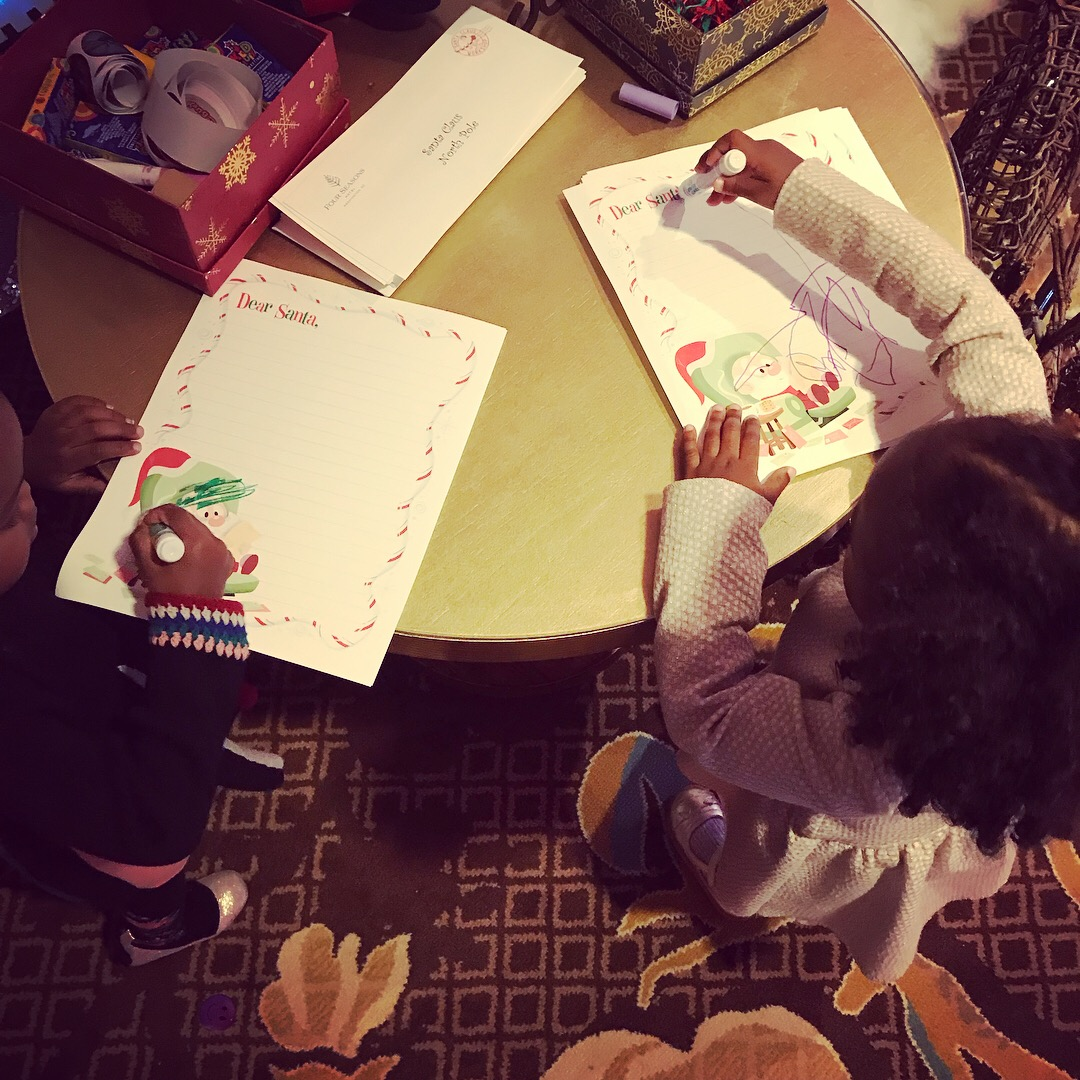 Writing Letters to Santa at The Four Seasons