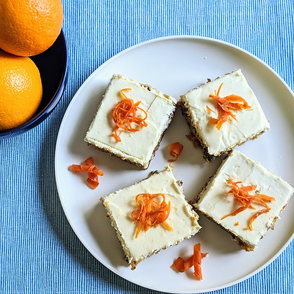 Carrot & Orange Bars