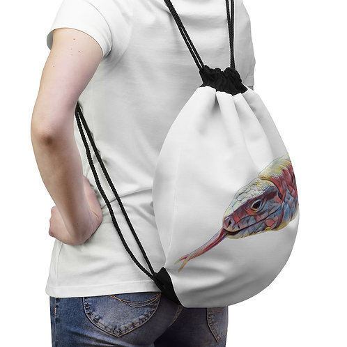 Polar Purple Tegu Drawstring Bag For Sale, Tgeu, Lizard, Reptile, Tegu World,