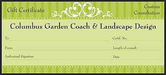 Columbus Garden Coach gift certificate