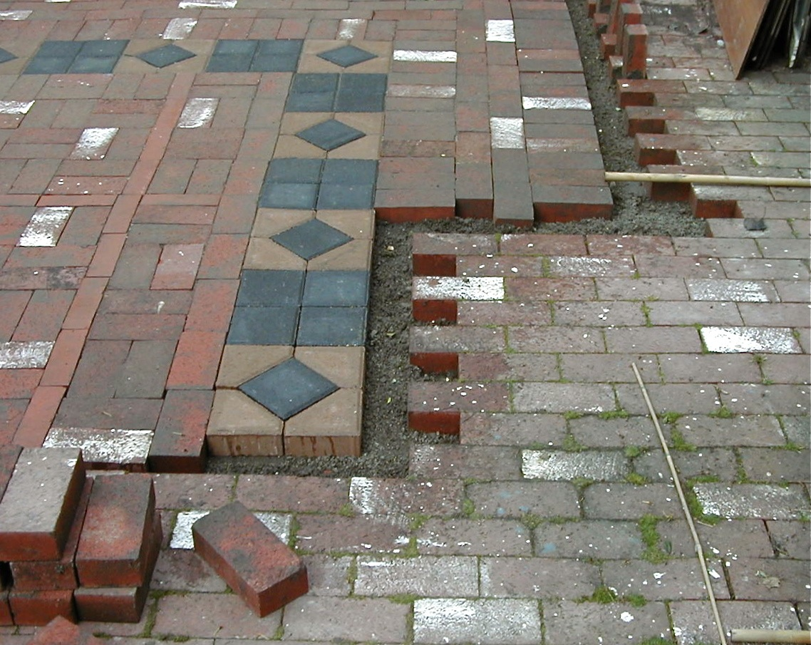 Brick patio - old & new