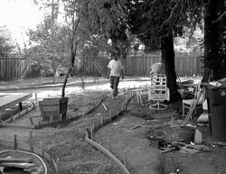 Backyard path - before