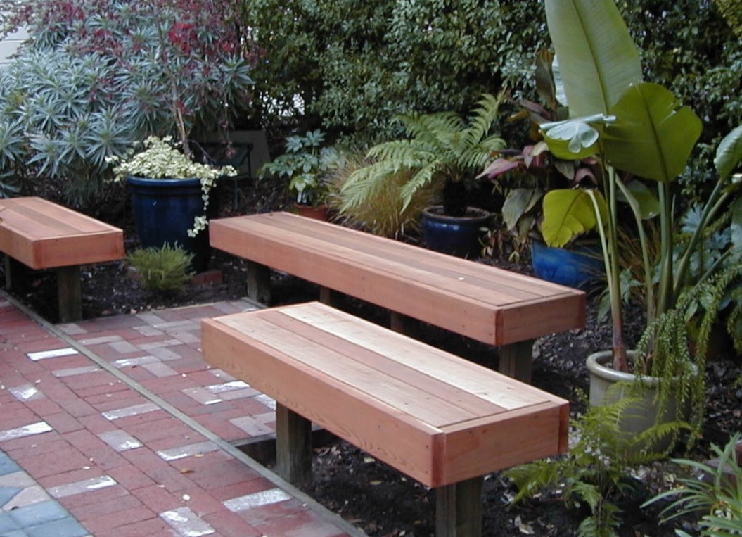 Built-in garden benches