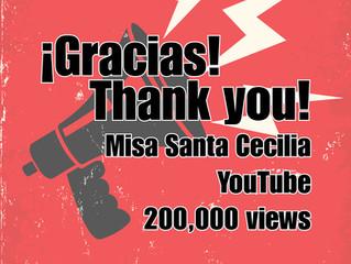 Misa Santa Cecilia YouTube: 200K