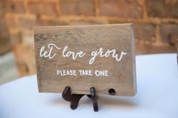 Let Love Grow Favor Sign
