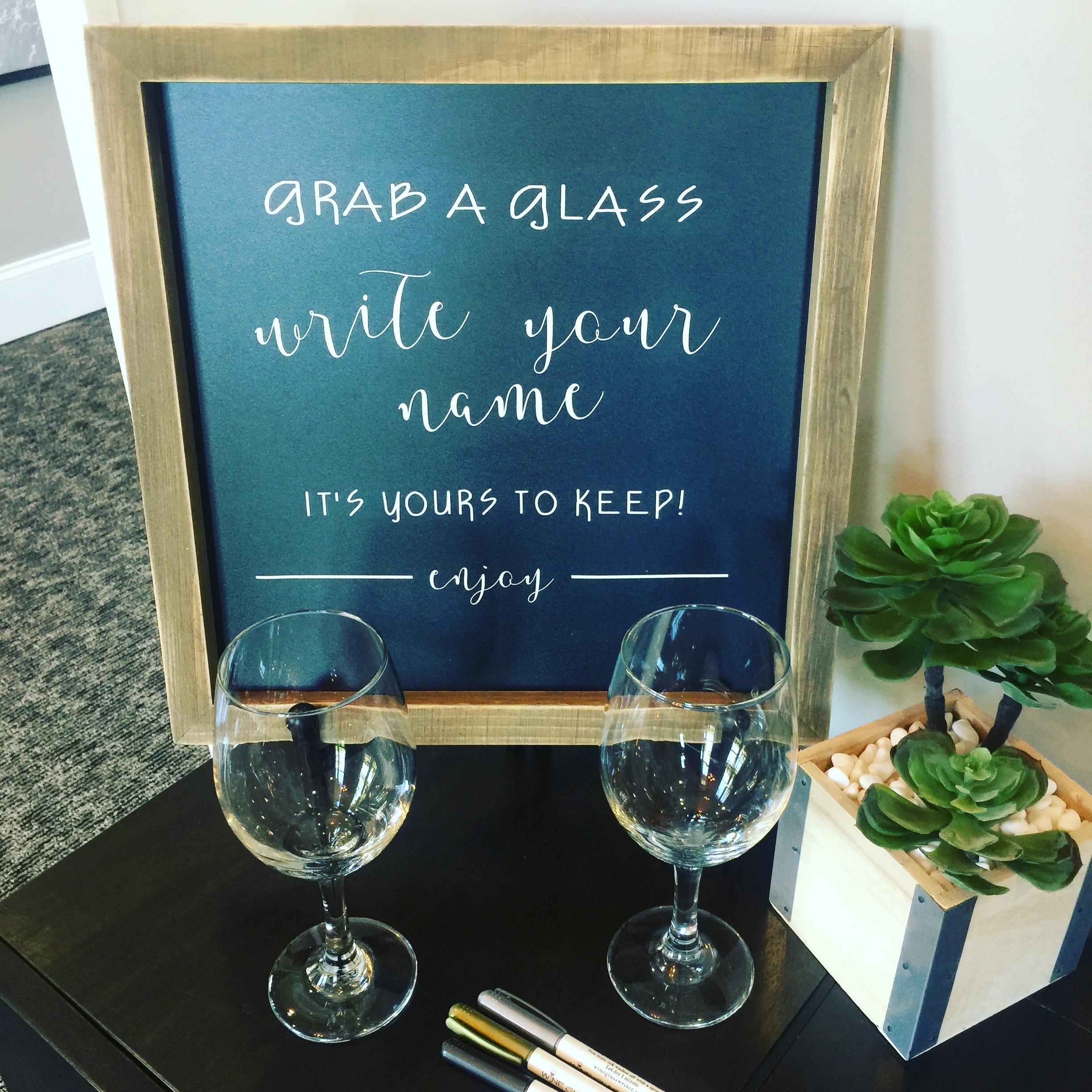 wine chalk grab a glass