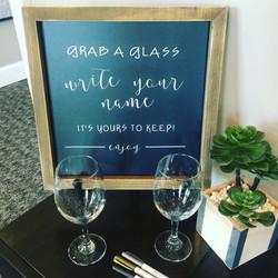 wine chalk grab a glass