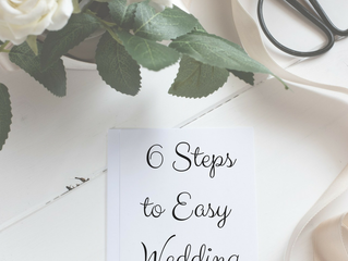 6 Steps to Easy Wedding Planning