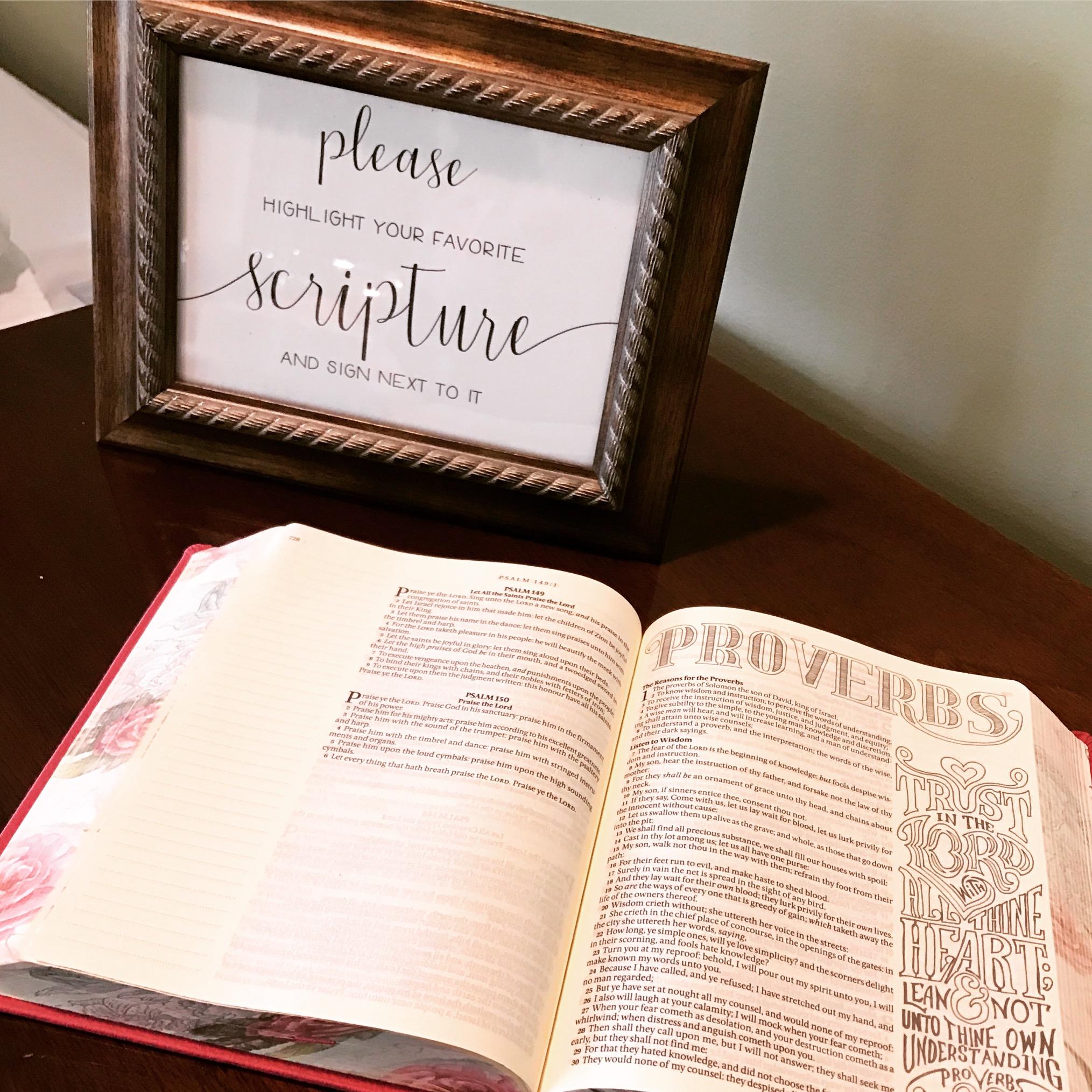 scripture guestbook