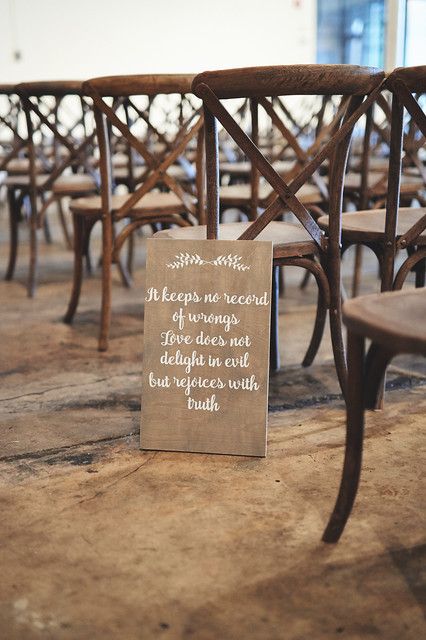 Hand Made Aisle Sign