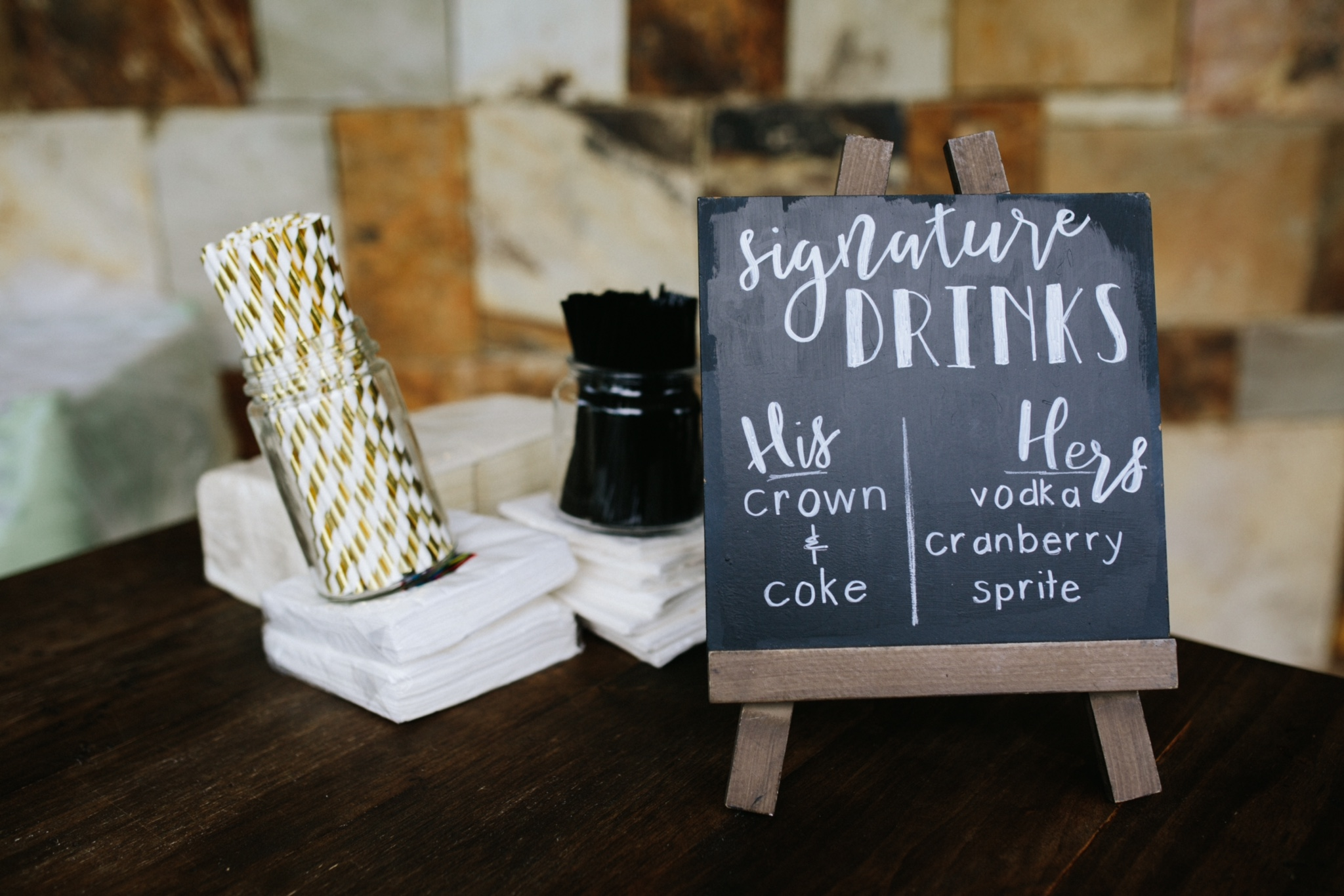 Customized Signature Drink Sign