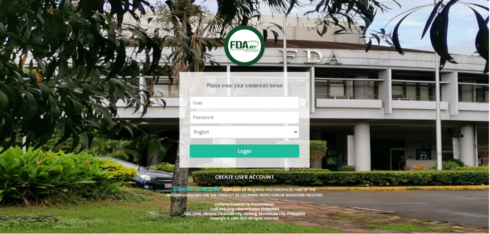 Secure FDA Philippines' license to operate as a medical facility via the rrdPortal.