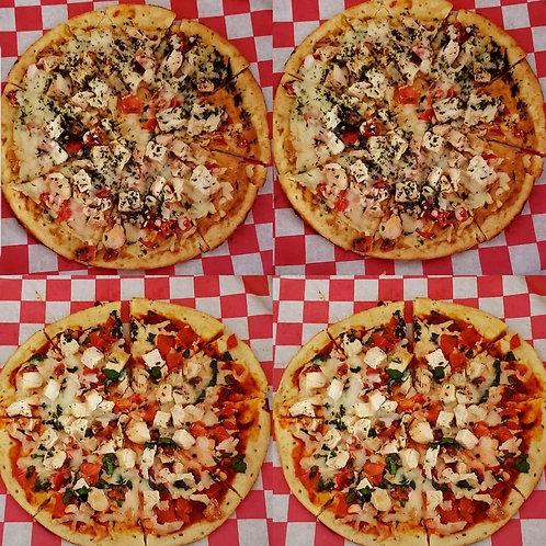 Custom Cauliflower Crust Pizzas {Gluten Free & Vegetarian Crust}
