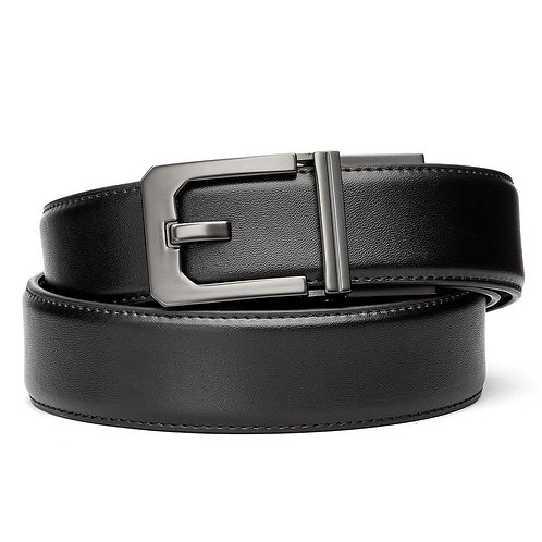 X3 BLACK LEATHER GUN BELT