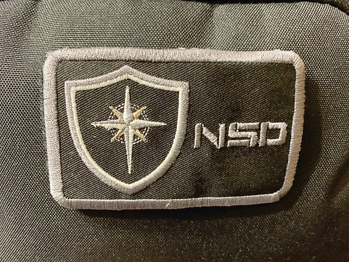 NSD               Morral Patch (Iron On.) 4in x 2.25in