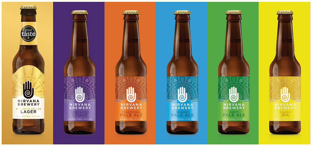 non-alcoholic beer bottles, nirvana brewery