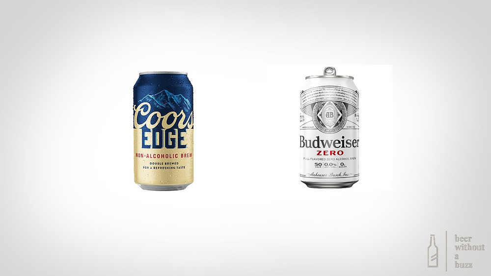 budweiser zero and coors edge