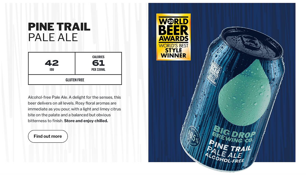alcohol-free pale ale, na beer, big drop brewing