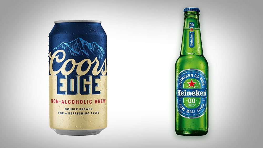 non-alcoholic beer review - coors edge vs heineken 0.0