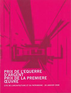 2008 Prix de l'équerre d'argent prix de la première oeuvre