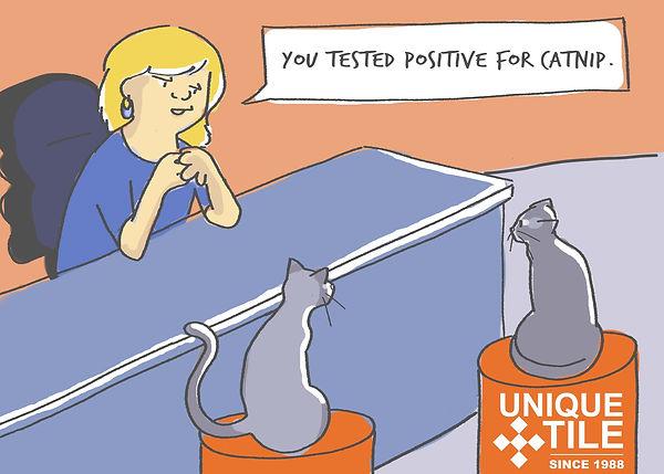 Unique Tile Cat Comic