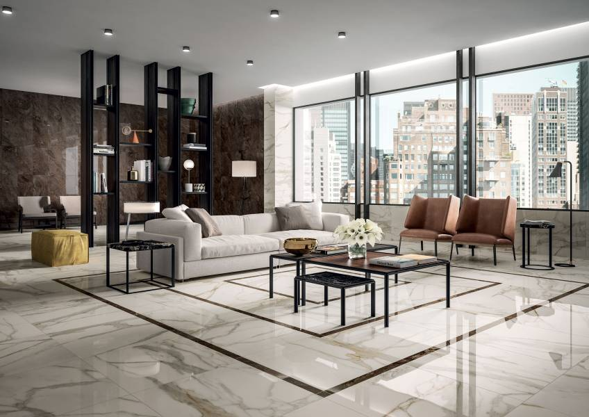 Charme Lux - Calacatta Gold Living Room