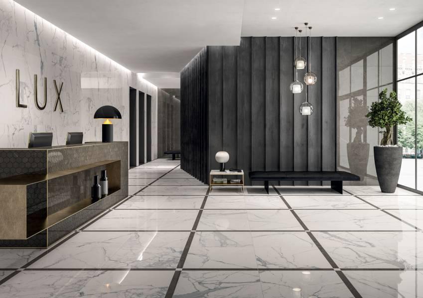 Charme Lux - Veined Statuario Room Scene