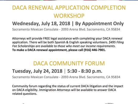 DACA Community Forum and Workshop