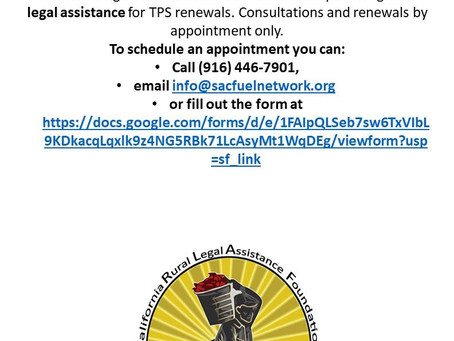Legal Assistance with TPS Renewals