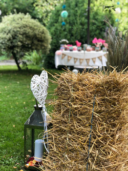 Hochzeit Dekoration Strohballen
