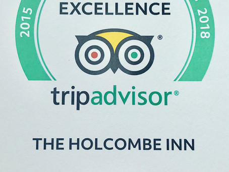 THE HOLCOMBE INN EARNS 2019 TRIPADVISOR CERTIFICATE OF EXCELLENCE