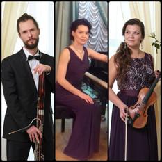 Елизавета Грушина (скрипка), Александр Симин (фагот), Елена Корнеева (фортепиано)