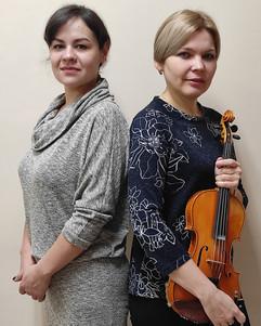 Инга Александрова (скрипка) и Анастасия Портнова (фортепиано) и