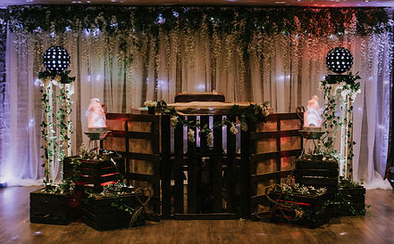 Rustic Wedding DJ set up