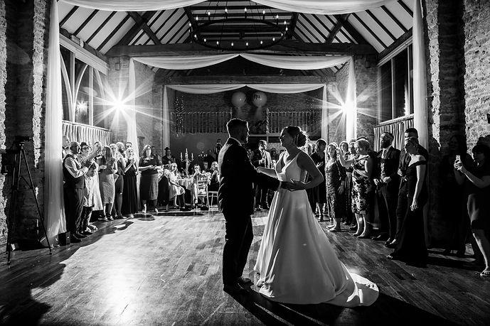rustic wedding dj the great barn