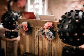 rustic wedding dj manor farm barn