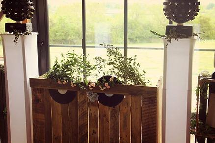 rustic wedding dj wood farm