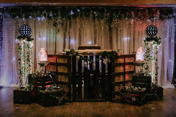 Rustic DJ Booth