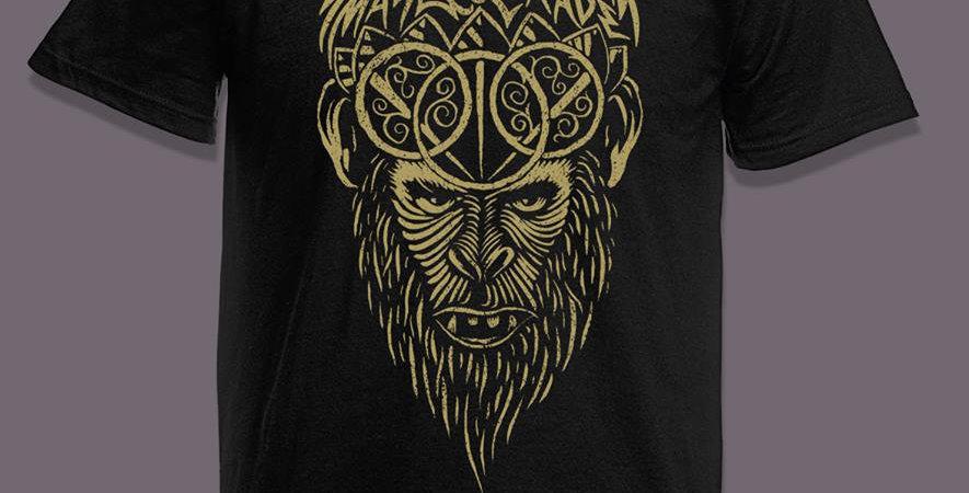 Hanuman Limited edition short sleeve shirt GOLD