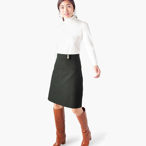 jjackman ethical workwear a-line skirt canvas