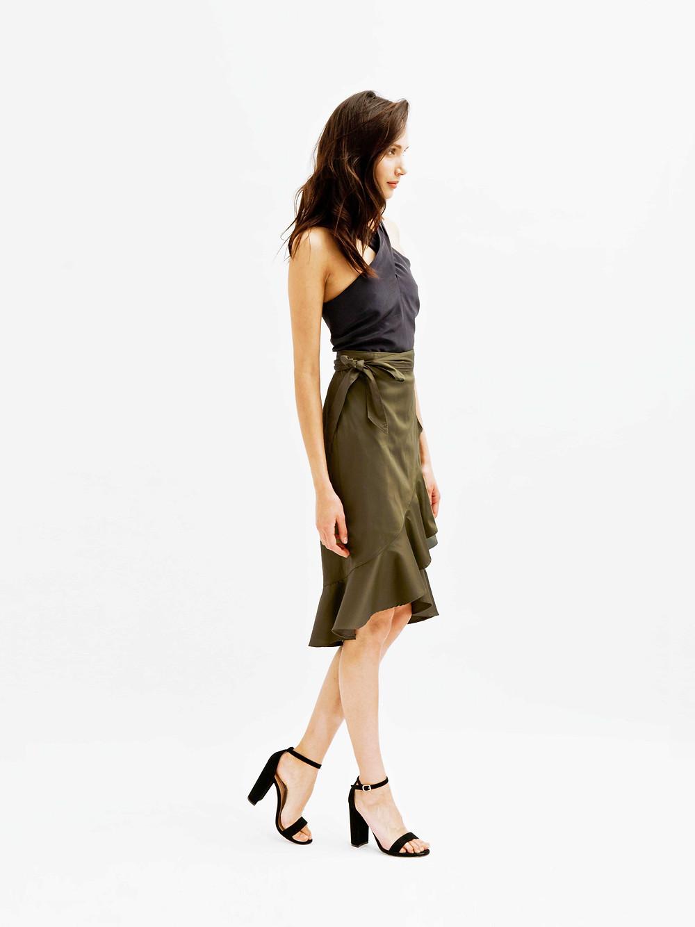 SANDRA Ruffle Wrap Skirt