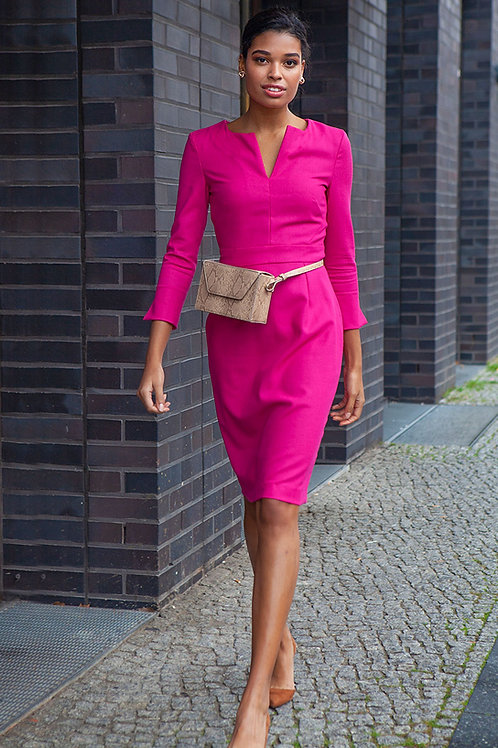j.jackman sustainable business clothing for women - pink pencil dress pencil me in