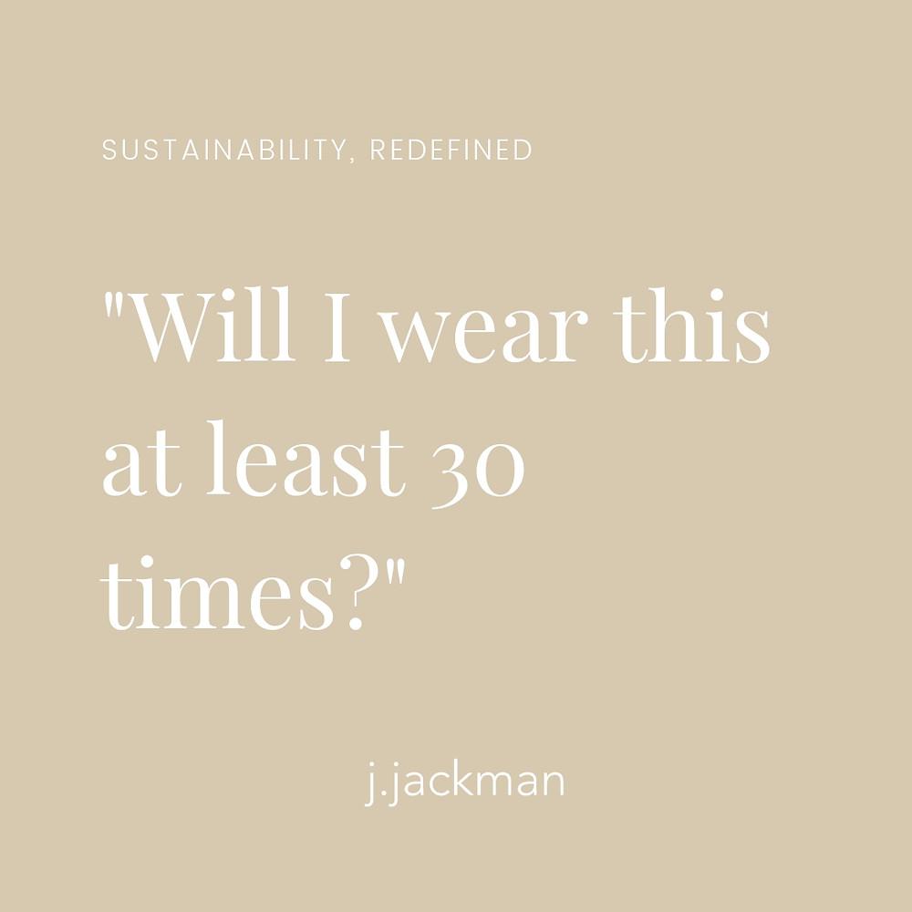 Nachhaltige Mode: #30wears