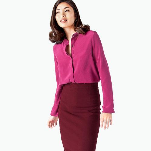 pink silk blouse j.jackman