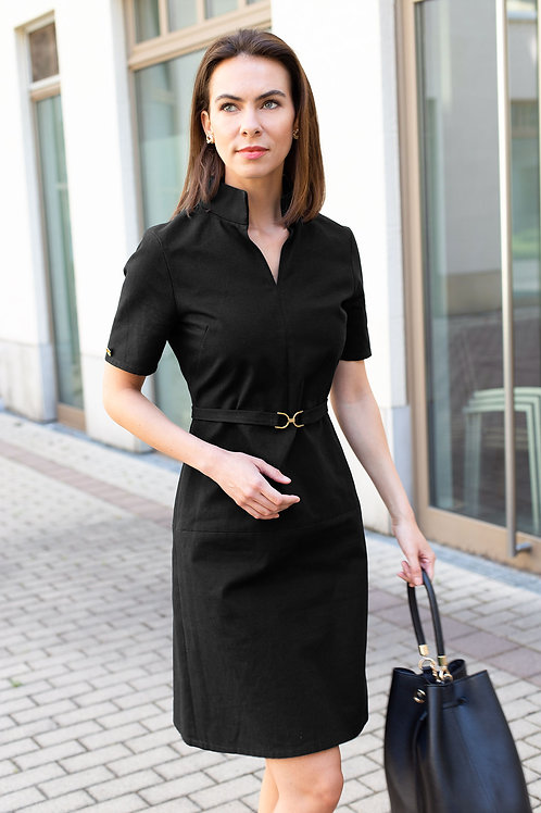 Cotton Collar Dress for Summer in black j.jackman