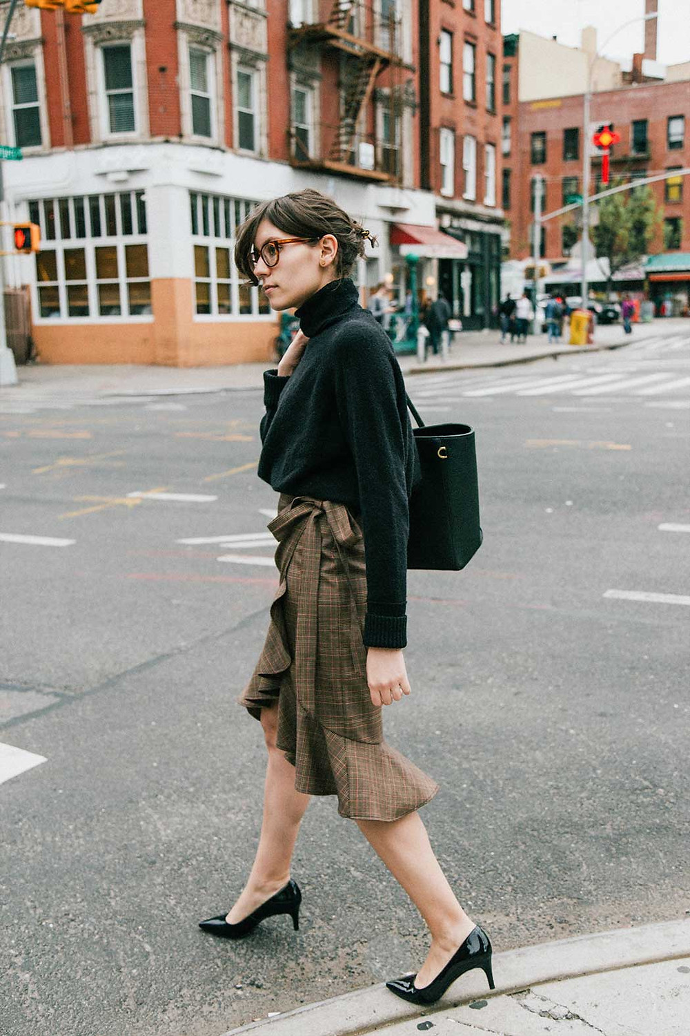 j.jackman ethical work clothes outfit inspiration wrap skirt