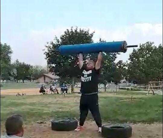 2018 Highland Fling Strongman, Log Press
