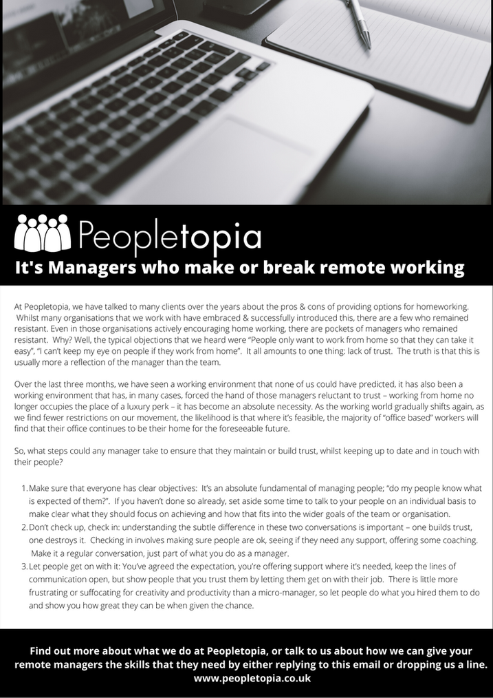 Managers Make or Break Remote Working