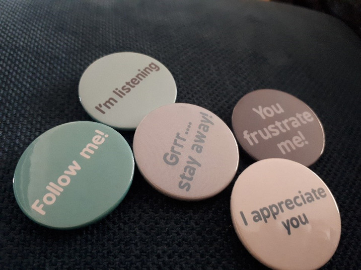 What badge are you wearing today?