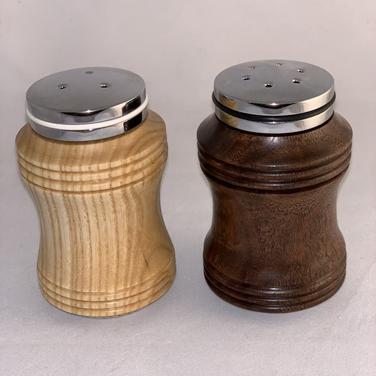 Salt & Pepper Shakers - Ash and Figured Walnut